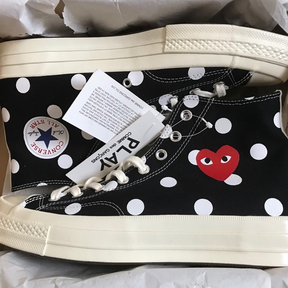 DS Converse Comme des Garcons polka high 10M12W NWT